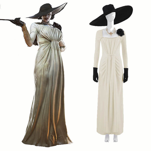 Resident Evil Village Lady Dimitrescu Cosplay Dress Deluxe Costume