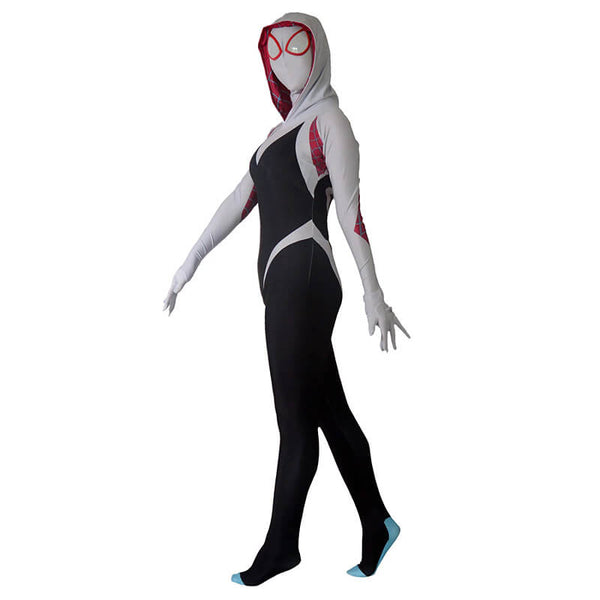 Women Zentai Suit Spider Lycra Spandex Gwen Stacy Cosplay Costume Adults Kids