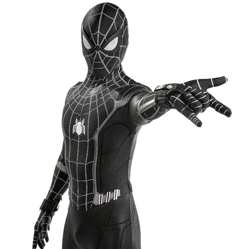 Marvel Spider-Man:Homecoming Black Jumpsuit Cosplay Costume - ACcosplay