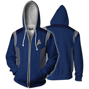 Star Trek Discovery 3D Hoodie Zipper Jacket Cosplay Costume - ACcosplay