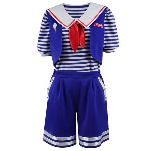 Stranger Things Season 3 Robin's Scoops Ahoy Uniform Halloween Costume