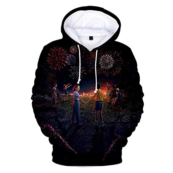 Stranger Things Hoodie Sweatshirt Short Sleeve Cotton T-Shirt Hat for Unisex - ACcosplay