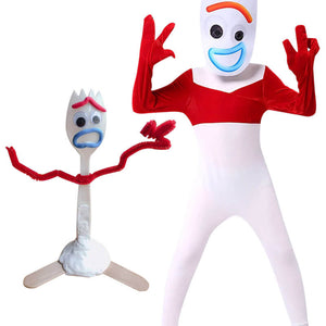 Disney Toy Story 4 Forky Costume Jumpsuit Children Kids Halloween Party Cosplay - ACcosplay