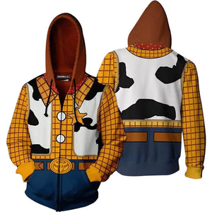 Disney Woody Toy Story Costume 3d Printed Hoodies Pullover Jacket ACcosplay