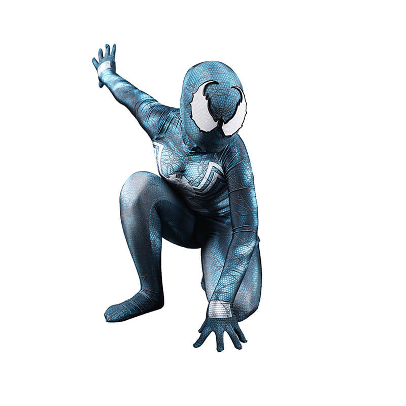 Venom Cosplay Cyan-Blue Halloween Costumes Bodysuit Jumpsuit - ACcosplay