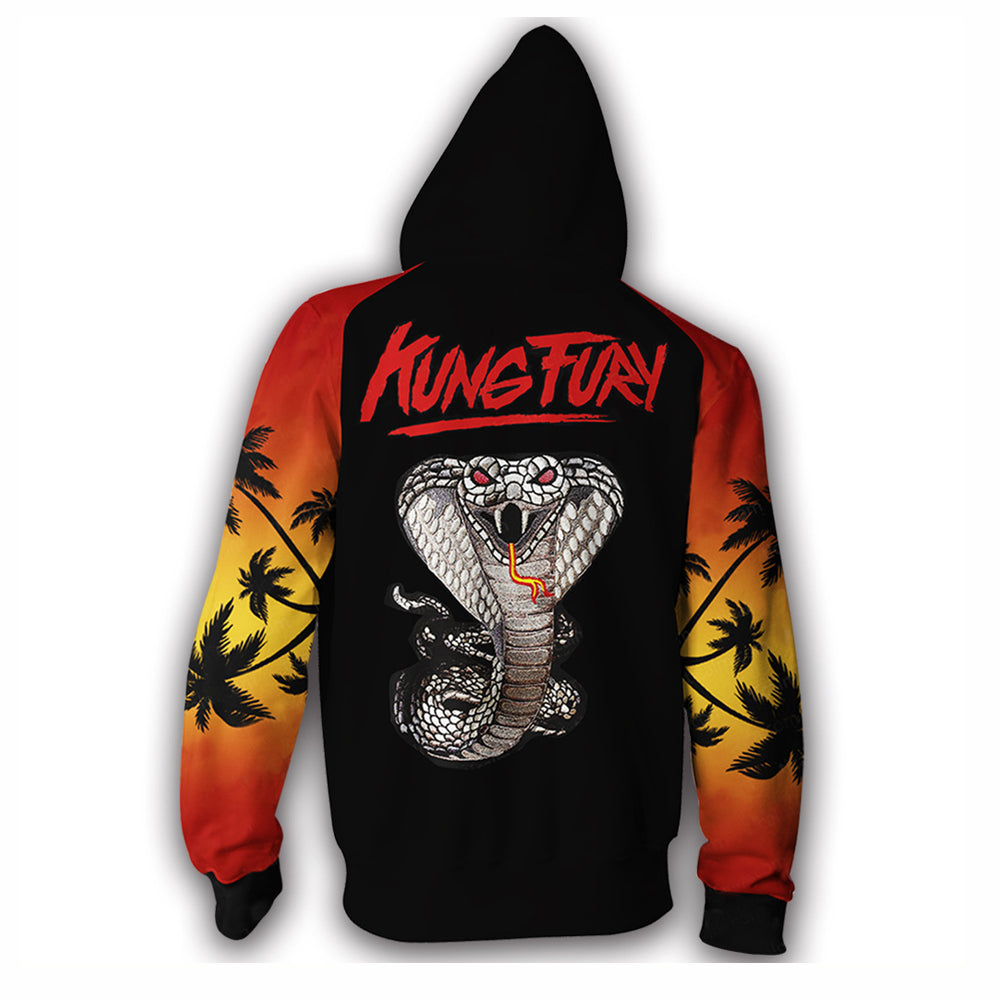 Cobra Kai Hoodie Karate Kid Jacket Karate 3D Printed Hooded Zipper Pullover Sweatshirt
