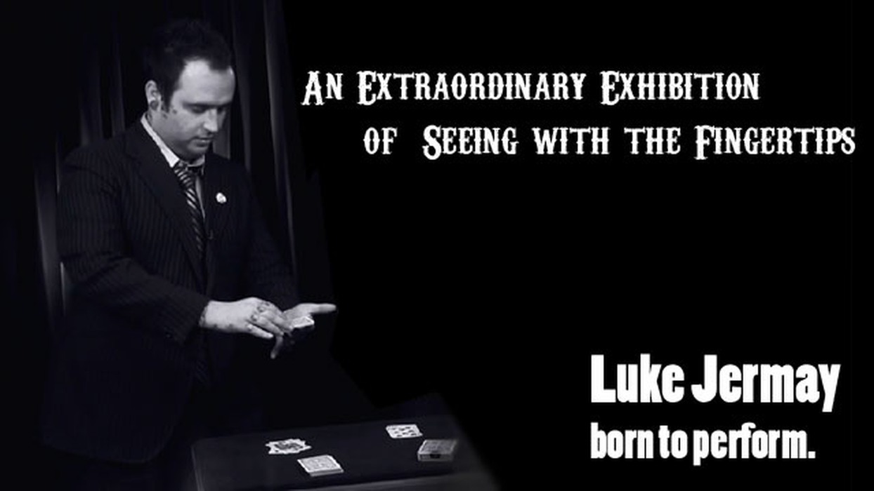 An Extraordinary Exhibition of Seeing with the Fingertips by Luke Jermay BLUE (DVD + Equipment)