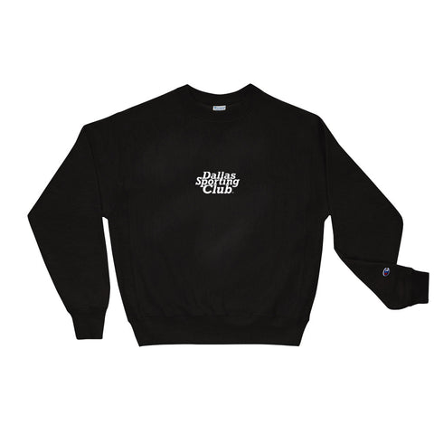 Dallas Sporting Club™ Logo Champion Sweatshirt - black/white
