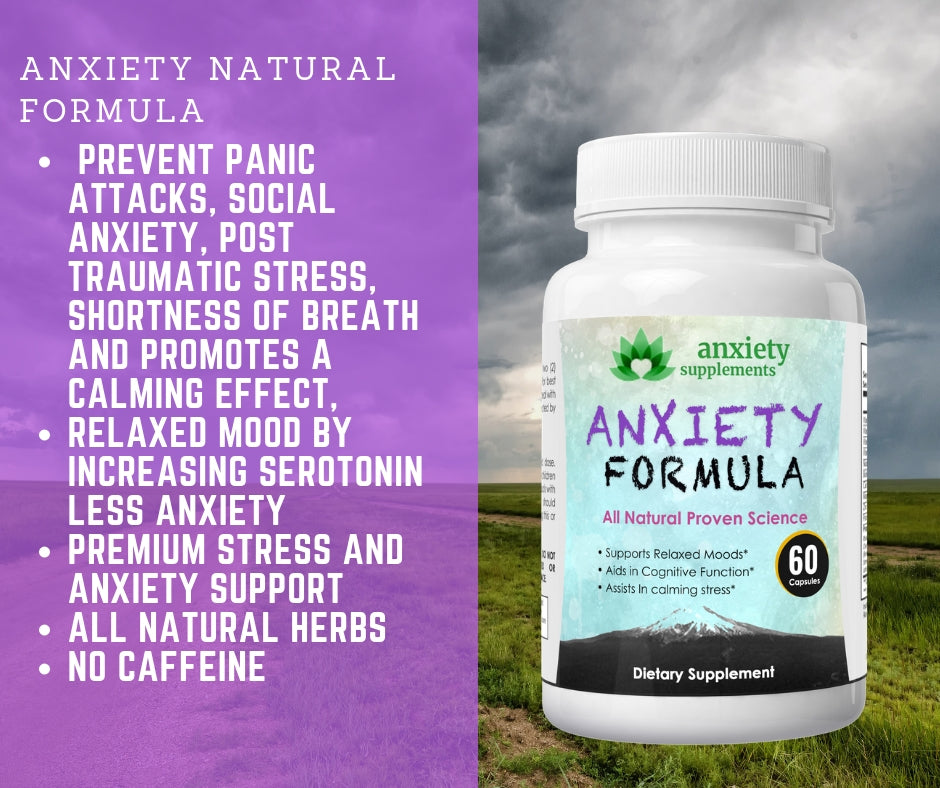 Anxiety supplements to help with depression visual aid bullet points
