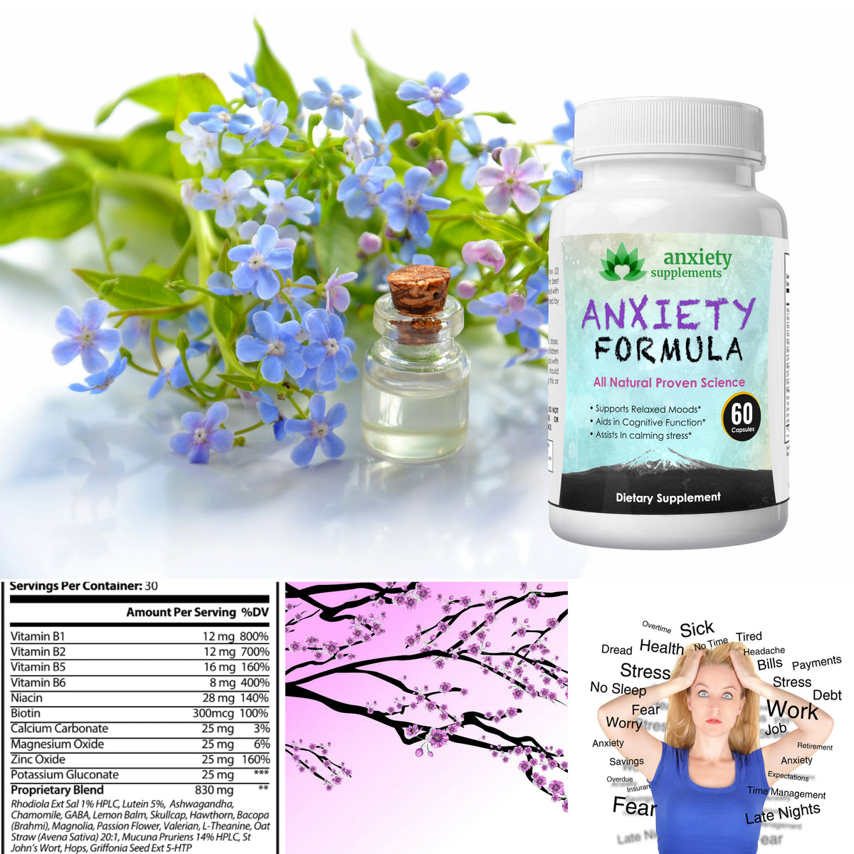 Anxiety supplement all natural help with depression