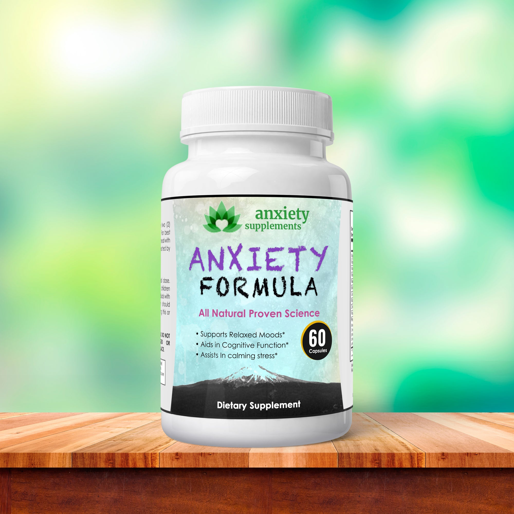 Anxiety Control Natural Supplement Formula