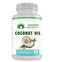 Transparent background with coconut oil softgels 30 count from anxiety supplements