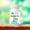 Bottle of Coconut Oil Soft Gels From Anxiety Supplements