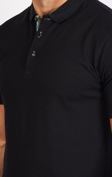 Aide Black Organic Polo Shirt Blanc