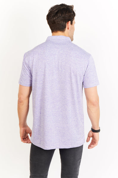 Alexandre Light Purple Short Sleeve Polo Shirt Blanc