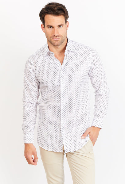 Alexis Long Sleeve Button Up Shirt Blanc