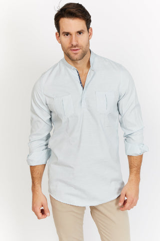 Arthur Gray Organic Button Up Blanc