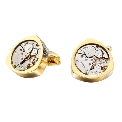 BOND WATCH CUFFLINKS // GOLD Blanc
