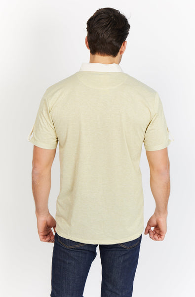 Dyson Yellow Organic Polo Shirt Blanc