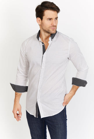 Horace White Organic Button Up Blanc