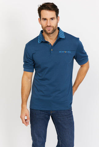 Oscar Short Sleeve Polo Shirt Blanc