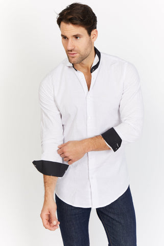Victor White Organic Button Up Blanc