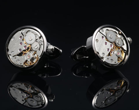 YORK WATCH CUFFLINKS // GUNMETAL Blanc