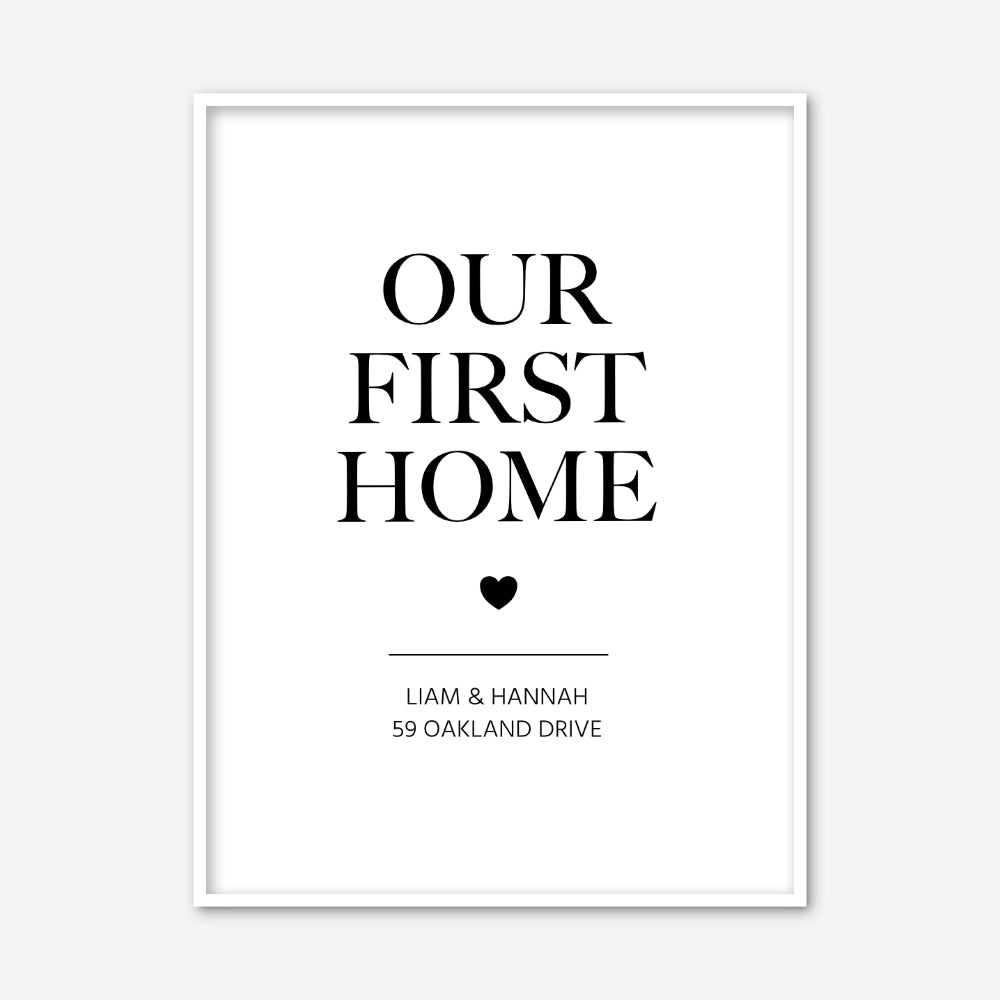 Our First Home Personalised Print Personalised Home Prints For Couples Modiprints