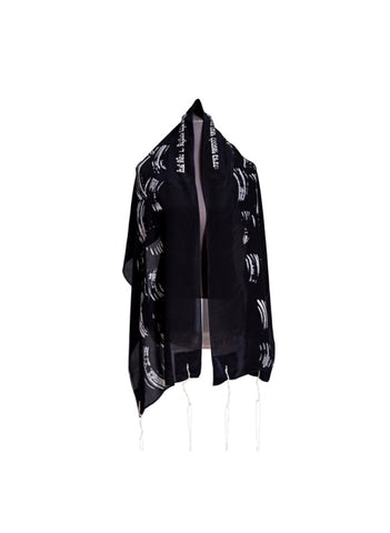 Black Waves tallit for women