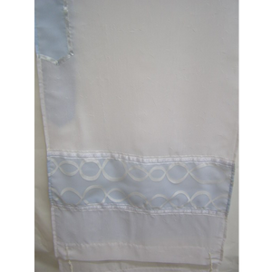 Light Blue Tallit for women With Wave Decoration