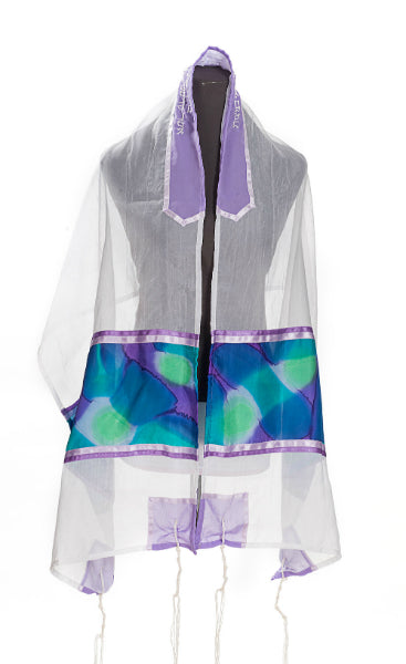 Silk Tallit for girl, Bat Mitzvah Tallit, Hand made Tallit by Galilee Silks