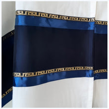 Load image into Gallery viewer, Gold, Blue and Black Decorations Wool Tallit, Bar Mitzvah Tallit Set, close up