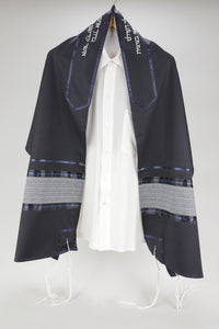 MAJESTIC ROYAL-LOOKING BLUE TALLIT