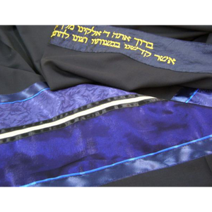 Navy Blue Wool Tallit