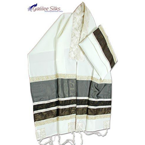 Gray Tallit Made From Wool