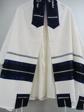 Load image into Gallery viewer, White and Blue Tallit