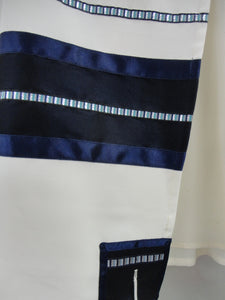 White and Blue Tallit