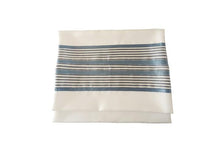 Load image into Gallery viewer, Refreshing White and Blue Tallit, Bar Mitzvah Tallit bag, Tallit Prayer Shawl,