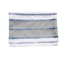 Load image into Gallery viewer, Smoked Blue with Light Blue Stripes Tallit, Bar Mitzvah Tallit bag