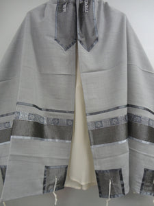 Light Grey Tallit, Bar Mitzvah Tallit Set, Modern Tallit, Contemporary Tallit