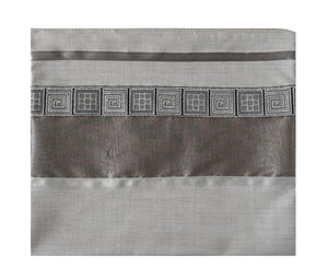 Light Grey Tallit, Bar Mitzvah Tallit Set, Modern Tallit, Contemporary Tallit bag