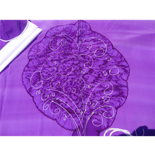 Load image into Gallery viewer, Tree of Life Tallit for Women, Bat Mitzvah Tallit, girls tallit, womens tallit spread, Silk tallit, purple tallit by Galilee Silks