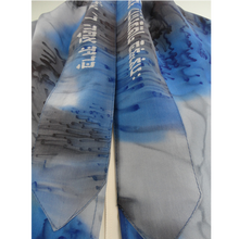 Load image into Gallery viewer, Blue and Black Silk Tallit for women