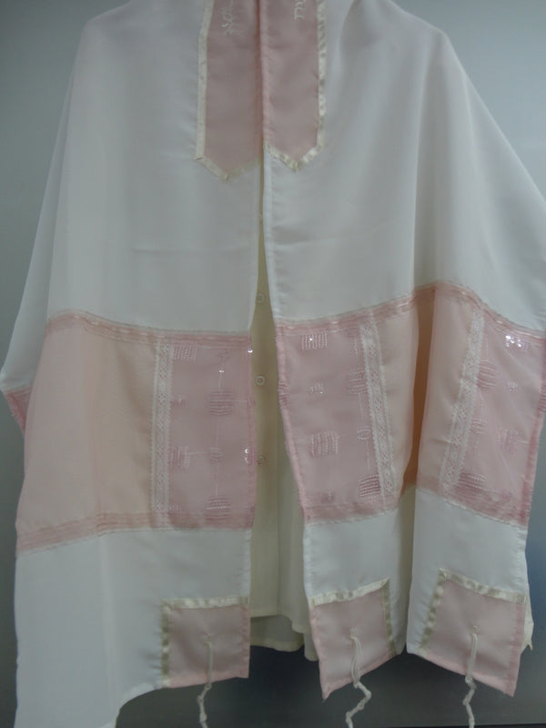 Galilee Silks Pink Tallit for women
