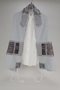 The Stunning Gray Viscose Tallit with the Tree of Life design