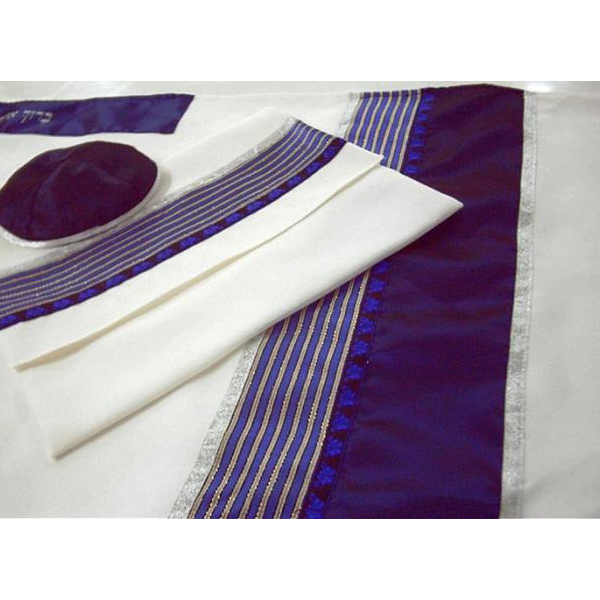 Wool Men's Tallit With Stripes