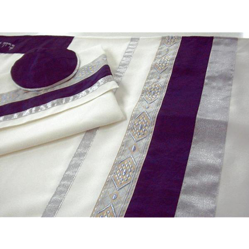 Man Wool Tallit With Diamond Detail