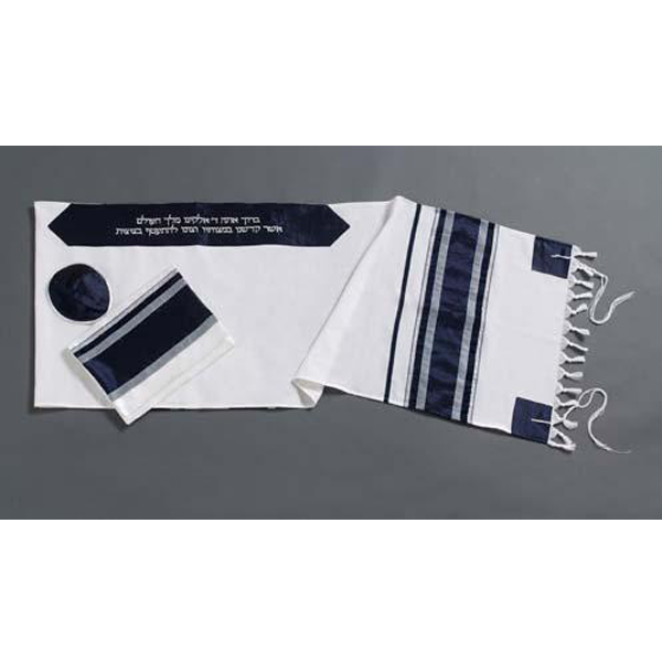 Striped Men's Wool Tallit Made In Israel