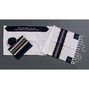Deep Blue Men's Wool Tallit