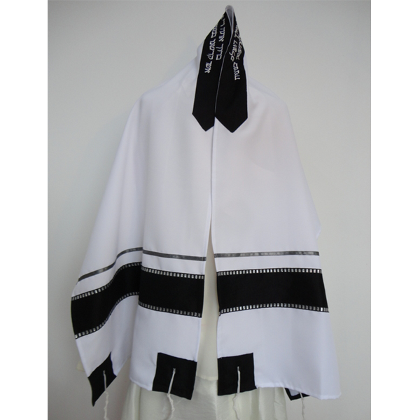 Black and Silver Tallit prayer shawl, Bar Mitzvah Tallit Set, vegan tallit, modern tallit, custom tallit from Israel, Hand made tallit by Galilee Silks